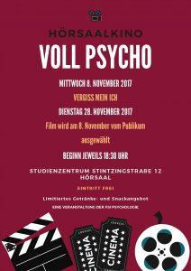 Hörsaalkino: Voll Psycho @ Studienzentrum Stintzingstraße
